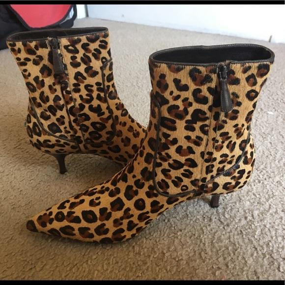 short leopard boots